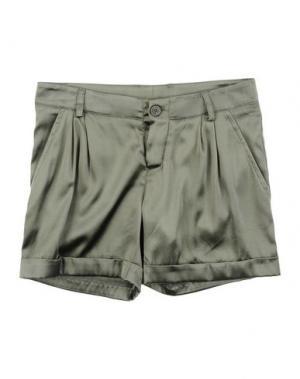 Повседневные шорты MANILA GRACE. Цвет: зеленый-милитари