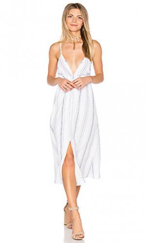 Платье с разрезом harmony Clayton. Цвет: белый