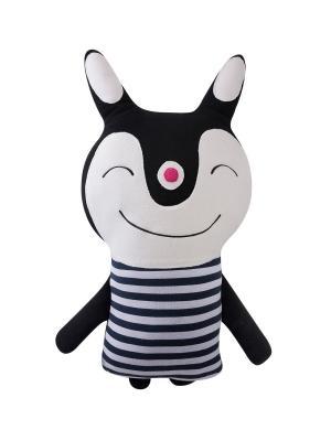 Игрушка-подушка Кролик Endo. Цвет: белый, черный