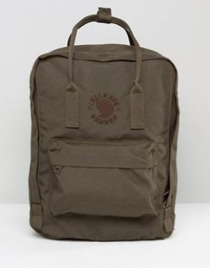 Fjallraven Темно-оливковый рюкзак Re-Kanken. Цвет: зеленый