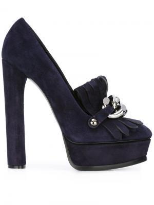 Декорированные туфли на высоком каблуке Casadei. Цвет: розовый и фиолетовый