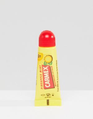 Carmex Бальзам для губ с ароматом мяты и ананаса. Цвет: бесцветный