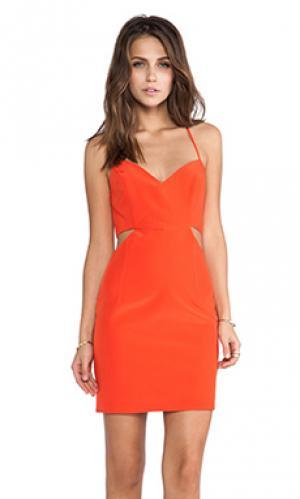 Платье с вырезами lux Naven. Цвет: оранжевый