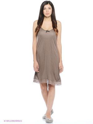 Ночная сорочка Marie Claire. Цвет: бежевый