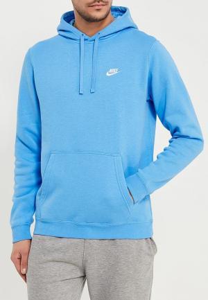 Худи Nike. Цвет: голубой