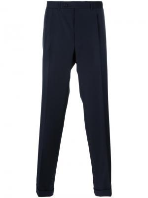Прямые брюки Canali. Цвет: синий