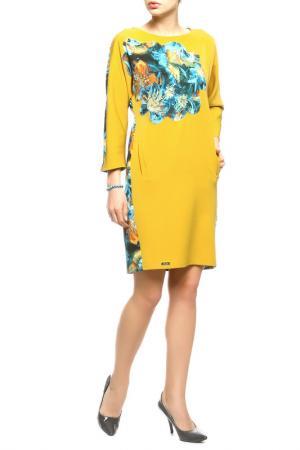 Платье Stillon. Цвет: оранжевый, цветок