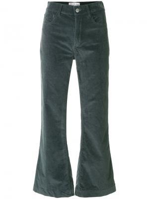 Укороченные брюки клеш The Seafarer. Цвет: синий