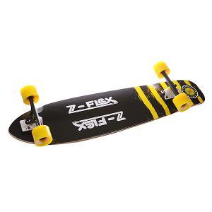 Лонгборд  Kicktail Longboard SS15 Yellow 38 (96.5 см) Z-Flex. Цвет: черный,желтый