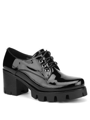 Туфли EMILIA ESTRA. Цвет: черный