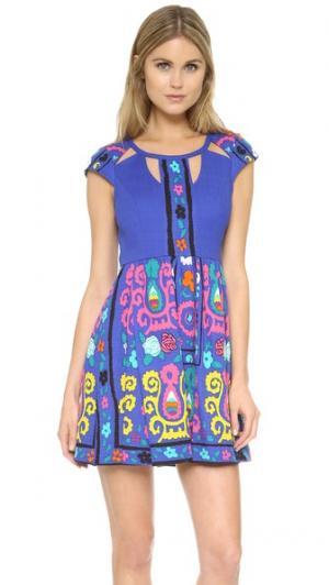 Платье с принтом plenty by TRACY REESE. Цвет: синий принт мульти