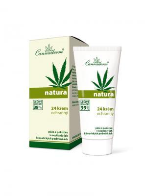Защитный крем Natura 24 для кожи лица 50 г. Cannaderm. Цвет: белый, зеленый