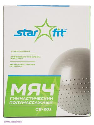 Мяч гимнастический полумассажный STAR FIT GB-201 65 см, серый (антивзрыв) Starfit. Цвет: серый