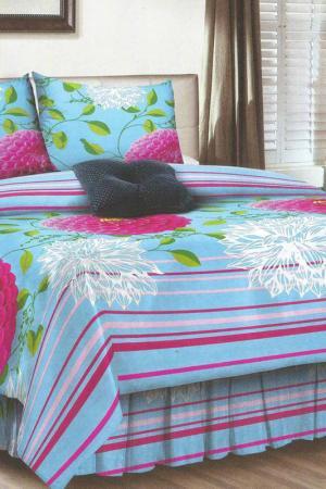 Постельное бельё 2 сп BegAl. Цвет: голубой, розовый, зеленый