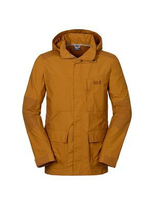 Куртка STANLEY PARKA M Jack Wolfskin. Цвет: коричневый, светло-коралловый