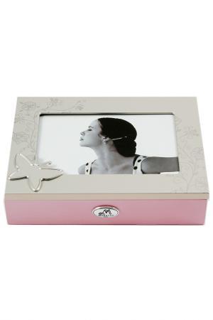 Шкатулка для украшений Русские подарки. Цвет: бежевый, розовый, серебряный