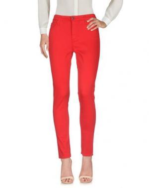 Повседневные брюки AG ADRIANO GOLDSCHMIED. Цвет: красный