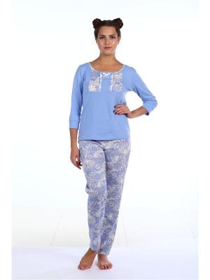 Пижама Pastilla. Цвет: голубой