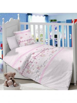 Комплект постельного белья ДЕТСКИЙ Dream time. Цвет: белый, бледно-розовый, желтый
