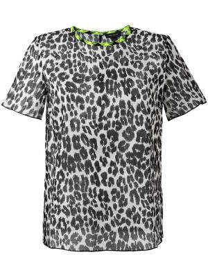 Футболка с леопардовым принтом Marc Jacobs. Цвет: чёрный