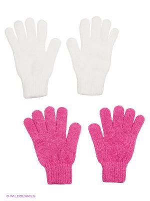 Перчатки - 2 пары FOMAS. Цвет: фуксия, белый