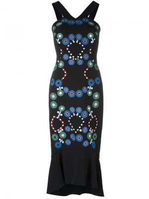 Платье с вышивкой Peter Pilotto. Цвет: чёрный
