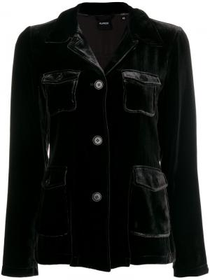Бархатный пиджак Aspesi. Цвет: серый