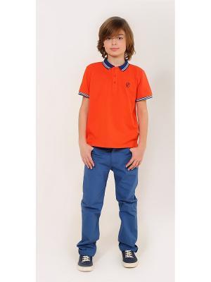 Футболка-поло Gino de Luka. Цвет: оранжевый