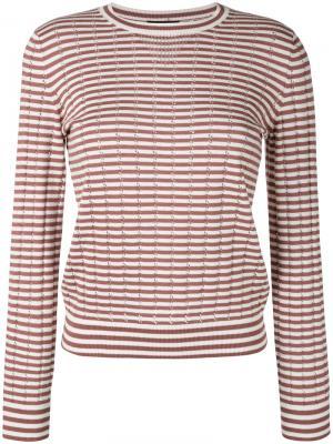 Свитер ажурной вязки в полоску Annabelle A.P.C.. Цвет: коричневый
