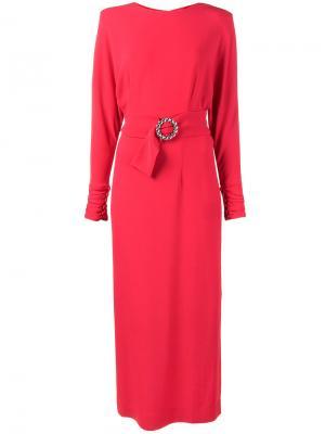 Длинное платье Alessandra Rich. Цвет: красный
