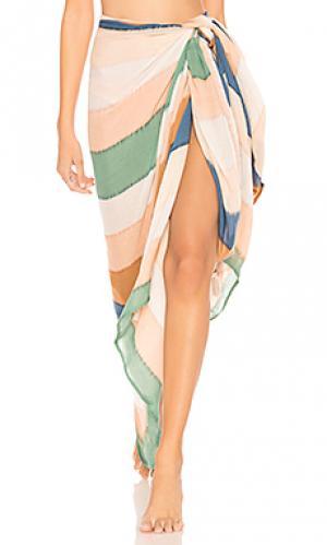 Однотонный sarong Indah. Цвет: кремовый