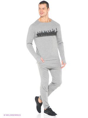Спортивные брюки Odlo. Цвет: серый меланж