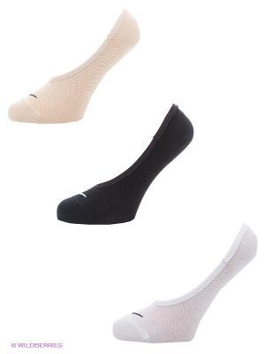 Носки 3PPK WOMENS LIGHTWEIGHT FOOTI, 3 пары Nike. Цвет: бежевый, белый, черный