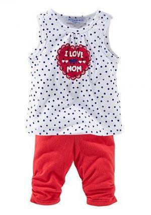 Маленькие шорты и леггинсы длиной 3/4 для детей (набор из 2 шт) KLITZEKLEIN. Цвет: белый/красный