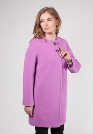 Пальто SHARTREZ. Цвет: фиолетовый