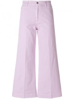 Укороченные широкие брюки Stella McCartney. Цвет: розовый и фиолетовый