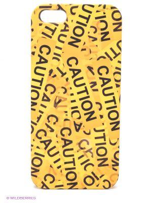 Чехол для IPhone 5 Оранжевый скотч Mitya Veselkov. Цвет: желтый, черный