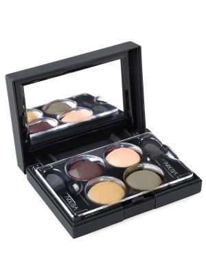 Тени для век КватроQuattro Eyeshadows 628, 2,4г NOUBA. Цвет: коричневый