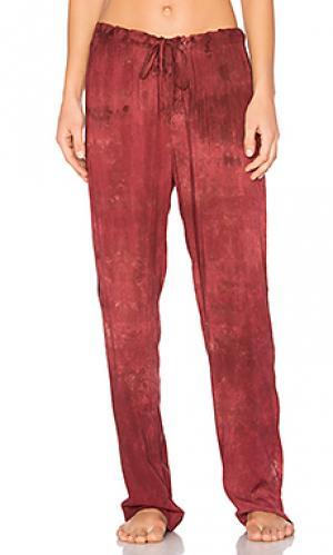 Пижамные брюки dulce LACAUSA. Цвет: красный