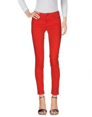 Джинсовые брюки NIOI. Цвет: красный