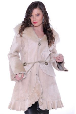 Sheep skin coat Lucca Marciano. Цвет: бежевый