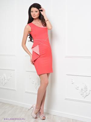 Платье Ally's. Цвет: коралловый