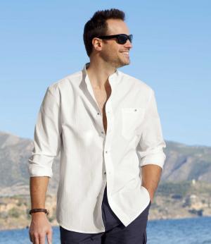 Рубашка «Ибица» AFM. Цвет: белыи