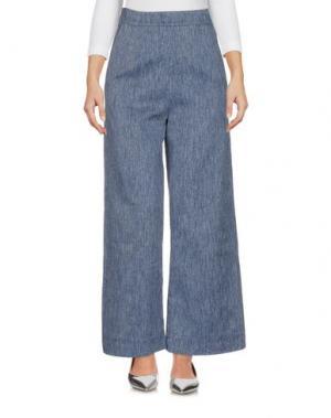 Джинсовые брюки ISA ARFEN. Цвет: синий