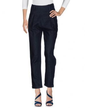 Джинсовые брюки PEUTEREY. Цвет: синий