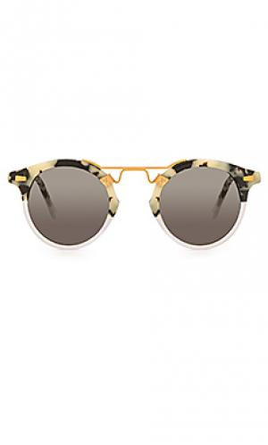 Солнцезащитные очки st. louis KREWE du optic. Цвет: кремовый