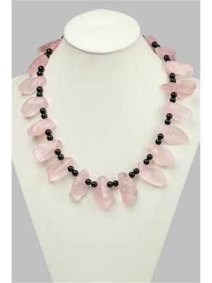 Бусы Oceania. Цвет: бледно-розовый, черный