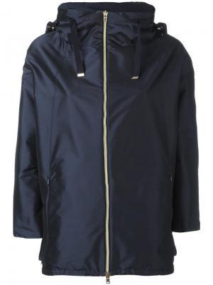 Пальто с рукавами три четверти Herno. Цвет: синий