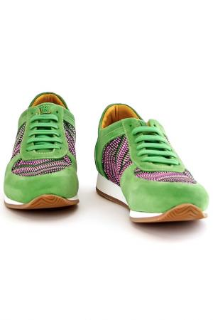 Кроссовки Fabiano Ricci. Цвет: зеленый