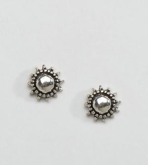 Kingsley Ryan Серебряные серьги‑гвоздики. Цвет: серебряный